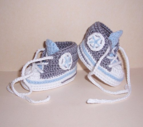 Babyschuhe - Turnschuhe - Sneaker gehäkelt gestrickt Schuhgröße 14/15