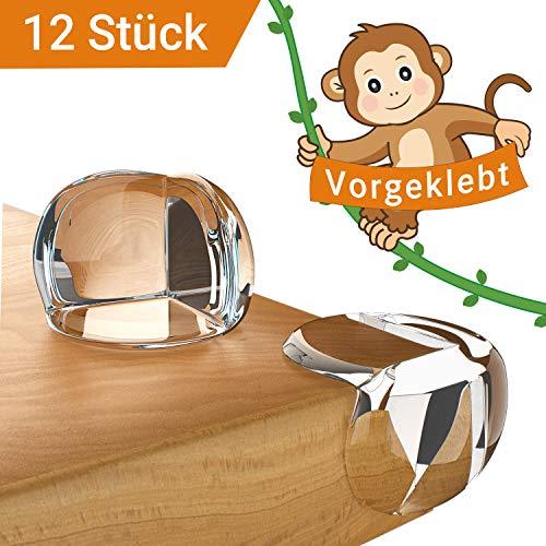 Avantina® Eckenschutz und Kantenschutz | 12 Stück | transparent, soft und weich aus Kunststoff | für Tisch-ecken und Möbel-kanten | Stoßschutz für Baby und Kind