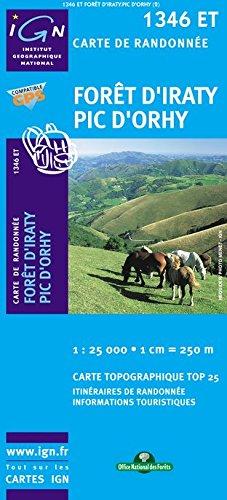Top25 1346ET - Foret d'Iraty, Pic d'Orhy carte de randonnée avec une règlegraduée gratuite (Top 25)