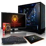 Fierce MARKSMAN RGB Gaming PC Bundeln - Schnell 6 x 4.6GHz Hex-Core Intel Core i5 8600K, All-In-One Flüssigkühler, 2TB Seagate FireCuda Solid State Hybrid Drive, 8GB von 2133MHz DDR4 RAM / Speicher, NVIDIA GeForce GTX 1070 8GB, Gigabyte Z370 HD3 Hauptplatine, GameMax Onyx RGB Computergehäuse, HDMI, USB3, Wi - Fi, VR Bereit, 4K Bereit, Perfekt für High-End-Spiele, Windows nicht Enthalten, Tastatur (VK/QWERTY), Maus, 24-Zoll-Monitor, 3 Jahre Garantie 933349