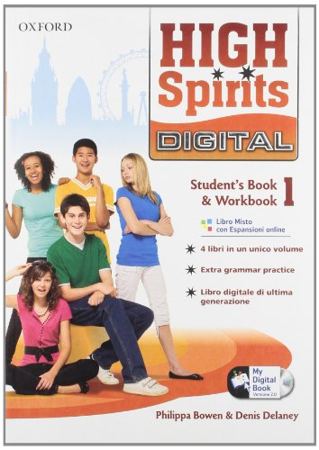 High spirits digital. Student's book-Workbook-Mydigitalbook 2.0. Per la Scuola media. Con CD-ROM. Con espansione online: 1