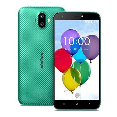 Ulefone S7 Smartphone ohne Vertrag (5 Zoll HD Display, Quad-Core Prozessor, 1 GB RAM, 8 GB Speicher, Dual-Hinterkameras, Dual SIM(Micro-Sim), Android 7.0, GPS) grün
