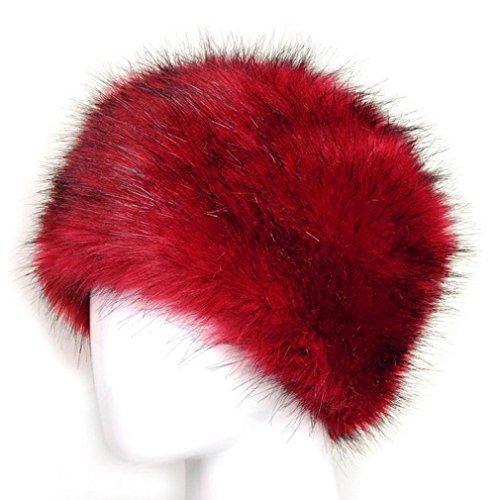 """Tefamore Sombrero Mujer y Hombre de Gorras de Suave de Invierno Cold-Proof (Tamaño: 60cm * 15cm / 23.6 * 5.9 """", Rojo)"""