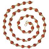 Abhimantrit 22K Gold Plated Rudraksha Mala Chain for Men and Women