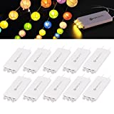 YUNLIGHTS 10 Pack Warm Weiß LED Ballon Lichter