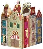 Adventskalender-Leuchte * Weihnachtshaus * von Silke Leffler im Grätz-Verlag // Zum Aufstellen und Verschicken // Adventkalender Advent Kalender Leuchte
