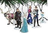 Disney Frozen Set di decorazioni albero di Natale con Anna, Elsa, Hans, Kristoff, Sven, la renna, Olaf Il pupazzo di neve-decorazioni in plastica infrangibile da 3'a 4' Tall