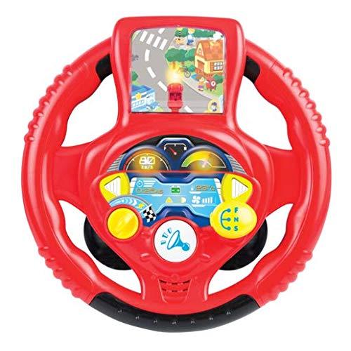 WinFun Geräusche Sound Lenkrad Kinder Fahrsimulator Auto Cockpit Fahrschulerot