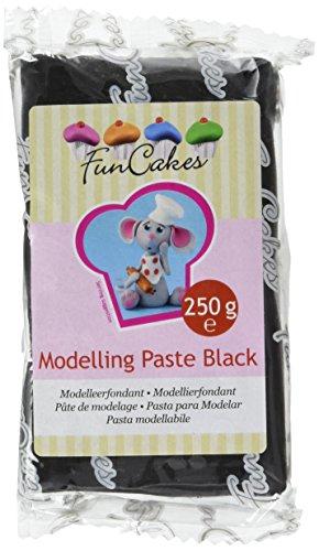 FunCakes Pasta da Modellaggio Nera - 3 Confezioni da 250 g