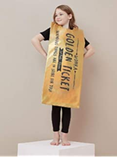 Smiffys Kids Winning Wonka Bar Golden Ticket Costume Book Week Roald Dahl Day