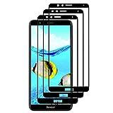 SAKYO [Lot de 3] Verre Trempé pour Huawei Honor 7X, Film Protection [Couverture Complète] [Dureté 9H] [Anti-rayure] Protection D'écran Complet pour Honor 7X, Noir