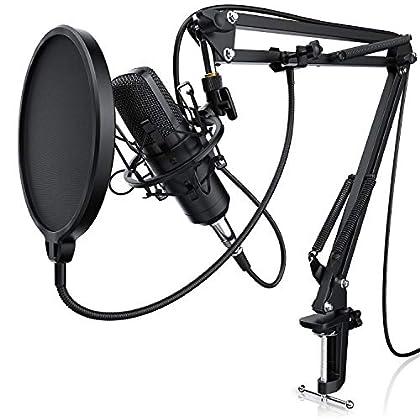 LIAM & DAAN - Micrófono condensador + Suspensió...