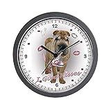 """CafePress–Shar-Pei I Love de costura para reloj de pared–Unique decorative 10""""reloj de pared"""