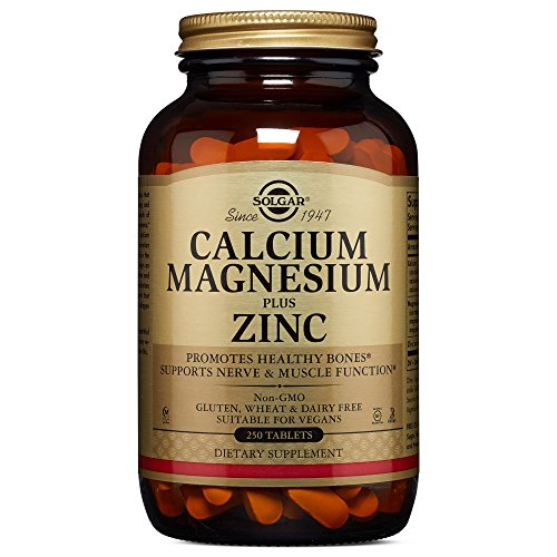 Solgar Calcium Magnesium Plus Zinc Tablets – 250 tablets