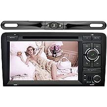 YINUO 7 Pulgadas 2 Din In Dash Pantalla Táctil GPS Navegador Reproductor/Estéreo/Radio De Coche Bluetooth Autoradio Para Audi A3 (2003-2013) Incluido La Cámara Reversa