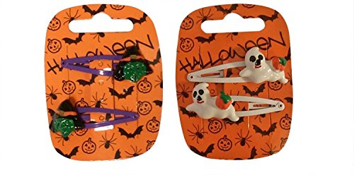 Pack of 2 Girls Halloween Hair Clips Sleepies Hairband Halloween Fancy Dress (Witches)