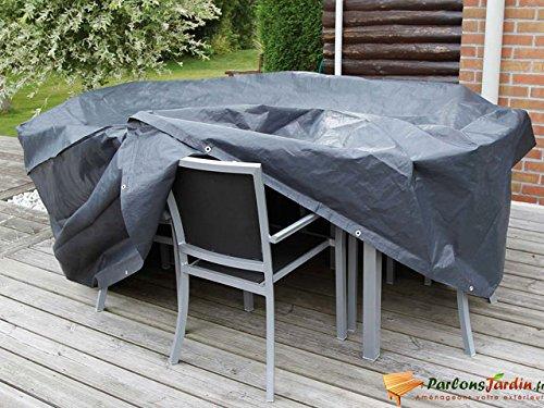 Nature Couverture de meubles jardin 90 x 325 205 cm PE gris foncé