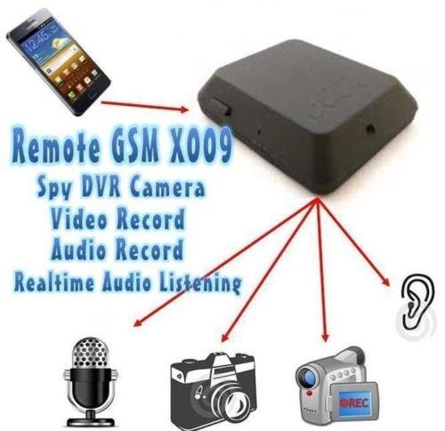 CursOnline® Micrófono oculto ambientale GSM con grabación audio, vídeo, fotos y llamadas en tiempo real Alla percezione de un ruido, activación mediante SMS