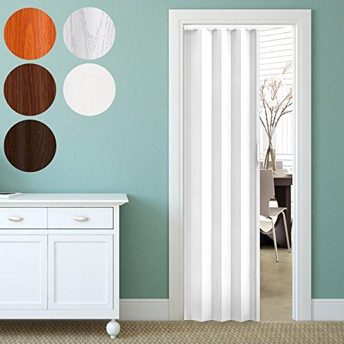 Jago - Puerta plegable de PVC - Blanco - Aprox. 203 x 82 cm - Diferentes colores a elegir
