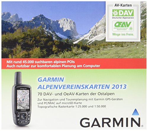 Garmin Freizeit Und Wanderkarte Für Gps Geräte Alpenvereinskarten 2013, microsd/sd, 010-11737-01