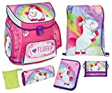 Scooli Schulranzen Set Campus UP, Fluffy, 6 teilig, 40 cm, 20 L, Pink