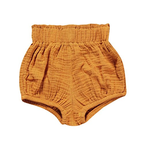 JERFER Säugling Kleinkind Kinder Unterwäsche Nettes Baby Mädchen Jungen Dot Geometrische Shorts Hosen Leggings 6M-5T (Gelb, 24M)