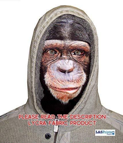 (L&S PRINTS FOAM DESIGNS Halloween Sad Monkey Face Novelty Fun Stoff Face Maske Design Snood Gesichtsmaske hergestellt in Yorkshire)