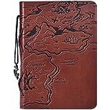 Malloom® Vintage Cuaderno cuero de la PU diario de viaje cadena en blanco náutico (café)
