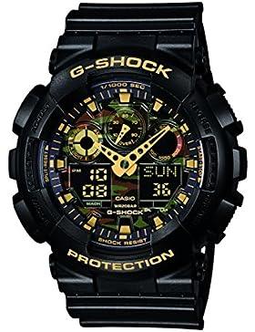 Casio G-Shock - Herren-Armbanduhr mit Analog/Digital-Display und Resin-Armband - GA-100CF-1A9ER