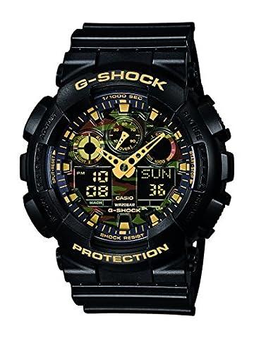 Casio G-Shock - Montre Homme Analogique/Digital avec Bracelet en Résine - GA-100CF-1A9ER
