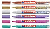 edding 751 Glanzlack-Marker Sparpack 14 Farben und viele Sortimente zur Auswahl (6er Set, metallic sortiert)