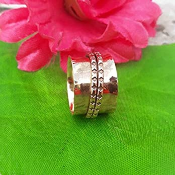 Meditationsringe, Spinnerringe, Silberringe für Frauen, Beautiful Designer Spinning Ring for Women, Spinner Band Rings…