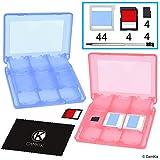 CamKix® 2X aufbewahrungsbox kompatibel mit Nintendo 3DS Spiele - Passend für bis zu 44 Spiele, 4 SD Karten, 4 Micro SD / TF Karten und 4 Stylus Stifte - Schützendes Aufbewahrungssystem