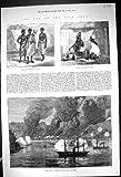 Leurre d'Argus de Bateau de Bootry de Bombardement de 1873 de Guerre Hommes de la Gold Coast Ashantee...