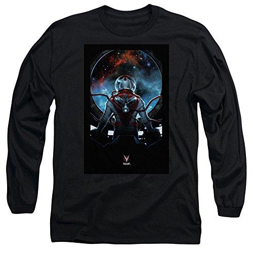 Divinity - Herren-Abdeckung Front / Back Drucken Langarm-T-Shirt Black