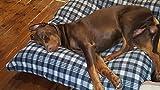 Hundebett XXXL grau, 120×100 cm, Hundekissen waschbar, Tier-Kissen - 4