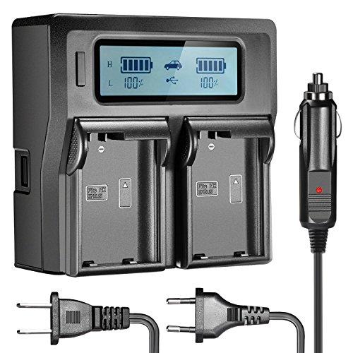 Neewer Dual-LCD-Ladegerät für Nikon EN-EL15 Akkus kompatibel Aus Nikon D800 D800E D610 D700 Smart D7200 D7000