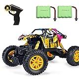 MaxTronic RC Graffiti Rock Crawler, 2.4G 4WD Voiture de contrôle Tout Terrain Radio Mountaineer 4 Roues motrices 1:18 échelle Monster Truck, Grand Cadeau pour Les Enfants