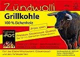 40 Kg  Zündwolli Eichengrillkohle Holzkohle Eiche Grillkohle Eichenkohle Premiumqualität aus Spanien