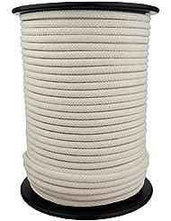 Corde Cordage en Coton 3mm 100m Blanc Crème tressé