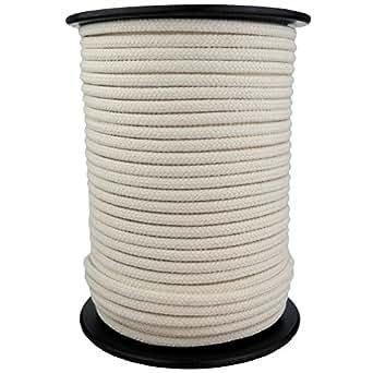 Baumwollseil Seil Baumwolle 6mm 100m geflochten Farbe Natur (Beige)