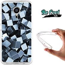 Becool® Fun- Funda Gel Flexible para Meizu MX5, Carcasa TPU fabricada con la mejor Silicona, protege y se adapta a la perfección a tu Smartphone y con nuestro exclusivo diseño. Cubos metálicos 3D