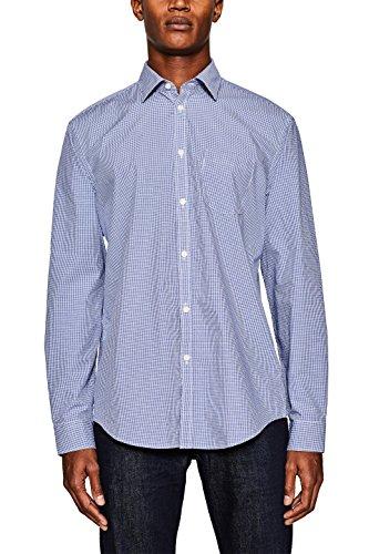 ESPRIT Collection Herren Businesshemd 127EO2F007, Blau (Navy 400), 35 (Herstellergröße: 35-36)