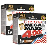 Weider Mega Mass 4000, Schoko, 2 x 7 kg