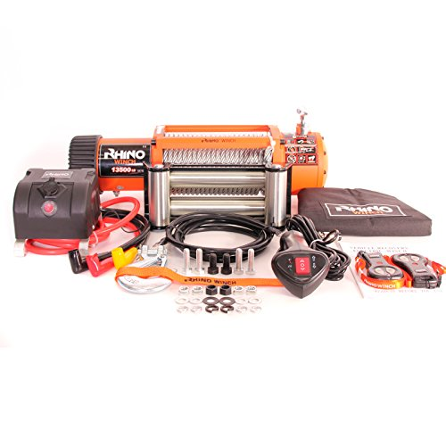 12v 4x4 Recovery Winch 13500lb (Not 13000lb) - Heavy Duty - Two Remotes Test