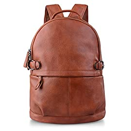 AB Earth Women Ladies Genuine Cow Leather Casual Daily Leathe rBackpack for Women Black Brown, M752