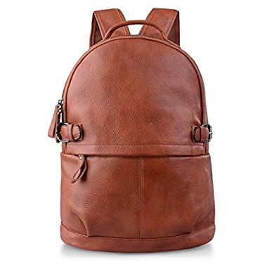 AB Earth Women Genuine Cow Leather Casual Daily Backpack Handbag, M752 (M603Brown)