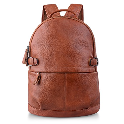 - 518T8STkOwL - AB Earth Women Genuine Cow Leather Casual Daily Backpack Handbag, M752