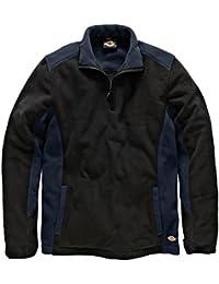 Dickies zweifarbiger Fleecepullover marineblau/schwarz NVBL, JW7011
