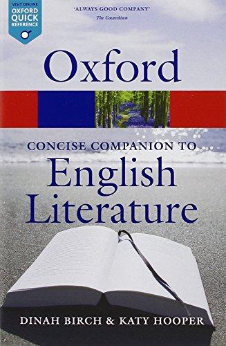 The Concise Oxford Companion to English Literature 4/e (Oxford Quick Reference)